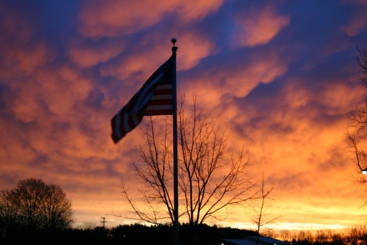 Easter Day 2006 - Old Glory and God's Glory